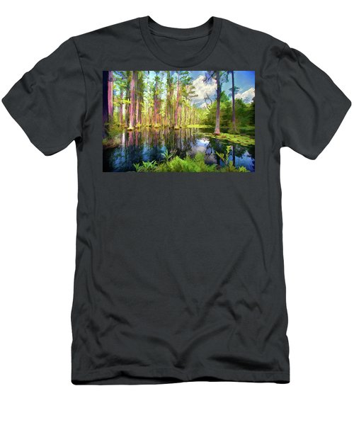 Dazzling Cypress Reflections Ap Men's T-Shirt (Athletic Fit)