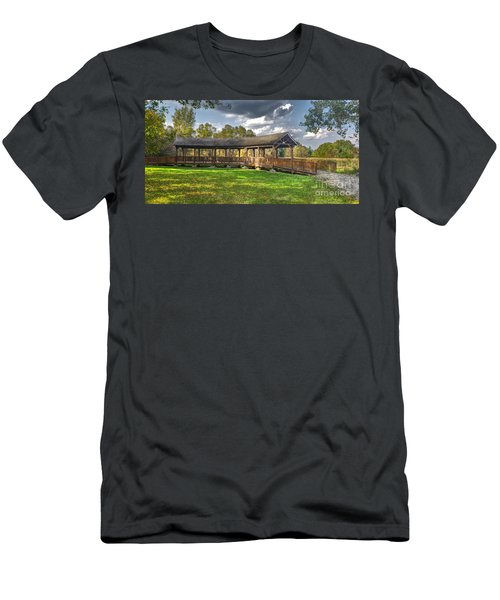 Deck At Pickerington Ponds Men's T-Shirt (Athletic Fit)