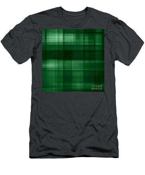 Men's T-Shirt (Athletic Fit) featuring the digital art Deep Green Plaid by Rachel Hannah