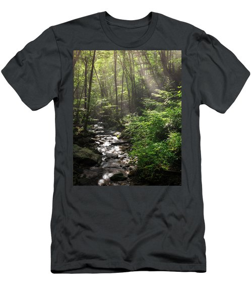 Deep In The Forrest - Sun Rays Men's T-Shirt (Athletic Fit)
