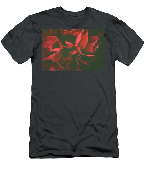 Deep Red Men's T-Shirt (Athletic Fit)