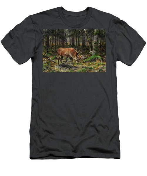 Deer In A Forest Glade, 1912 Men's T-Shirt (Athletic Fit)