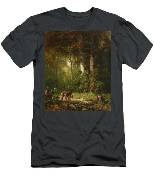 Deer In A Thicket, 1892 Men's T-Shirt (Athletic Fit)