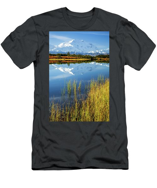 Men's T-Shirt (Athletic Fit) featuring the photograph Denali Reflection by Tim Newton