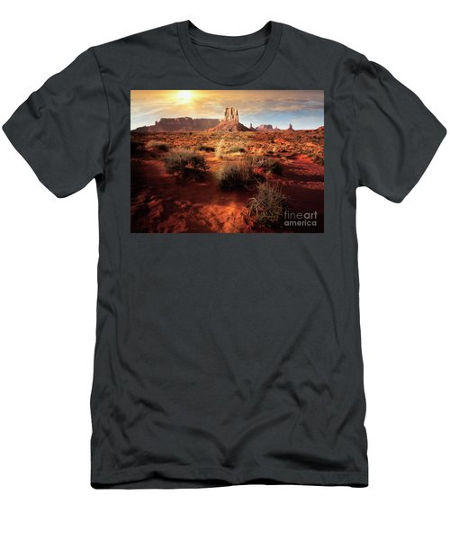 Men's T-Shirt (Athletic Fit) featuring the photograph Desert Sun by Scott Kemper