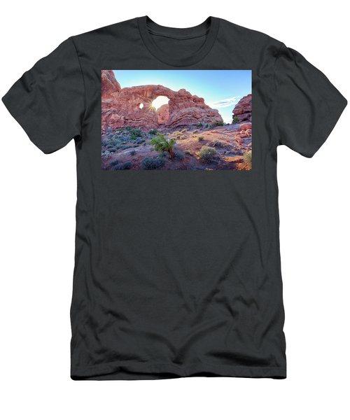 Desert Sunset Arches National Park Men's T-Shirt (Athletic Fit)