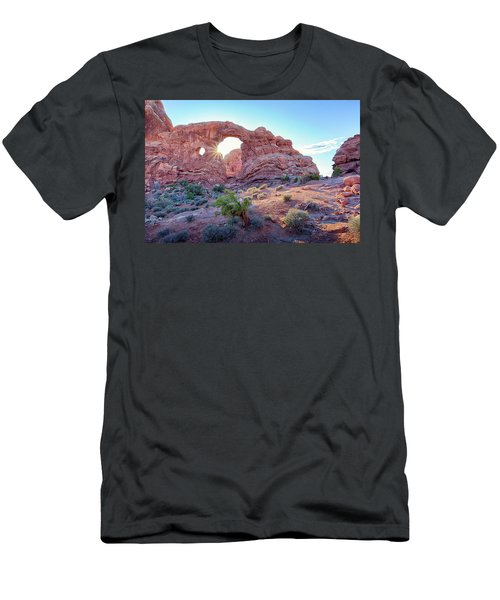 Desert Sunset Arches National Park Men's T-Shirt (Athletic Fit)