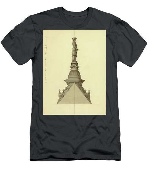 Design For City Hall Tower Men's T-Shirt (Athletic Fit)