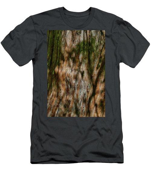 Detail Of Bark On Huge  Tree Men's T-Shirt (Athletic Fit)