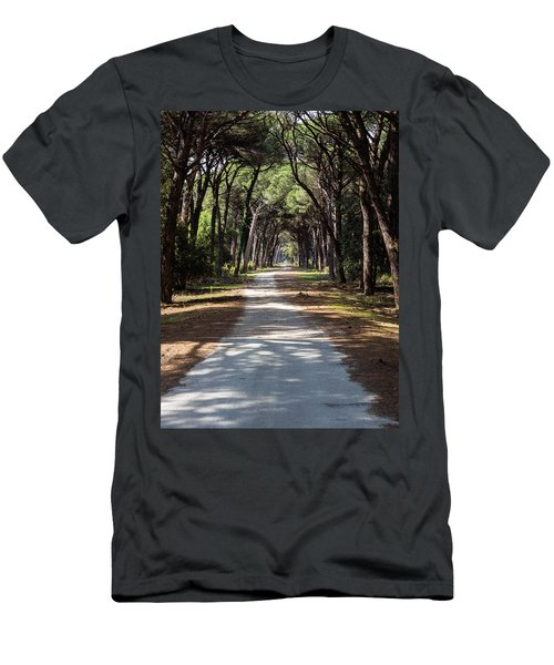 Dirt Pathway In A Mediterranean Pine Forest Men's T-Shirt (Athletic Fit)
