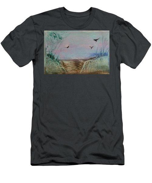 Dirt Road Through A Valley Men's T-Shirt (Athletic Fit)