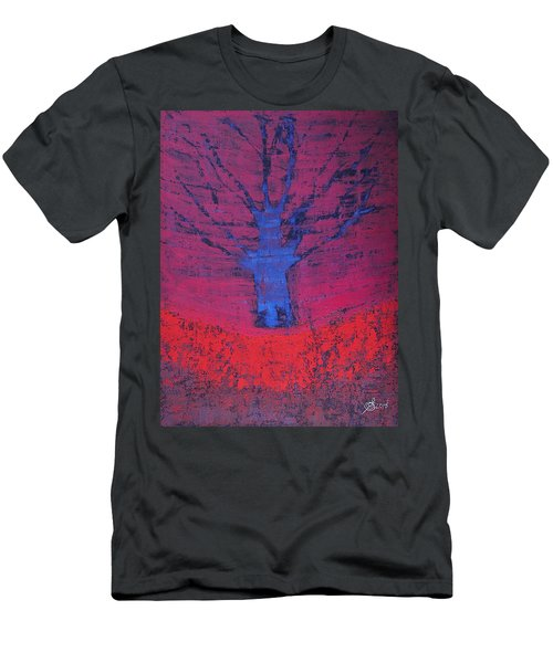 Disappearing Tree Original Painting Men's T-Shirt (Athletic Fit)