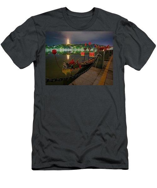 Docked Dragon Boat At Night I Men's T-Shirt (Athletic Fit)