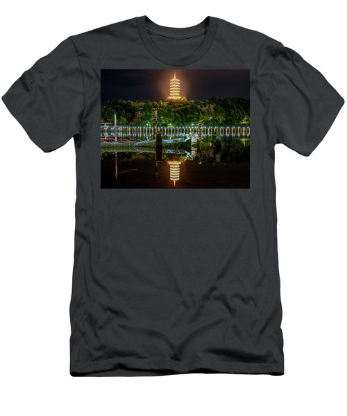 Docked Dragon Boat At Night IIi Men's T-Shirt (Athletic Fit)