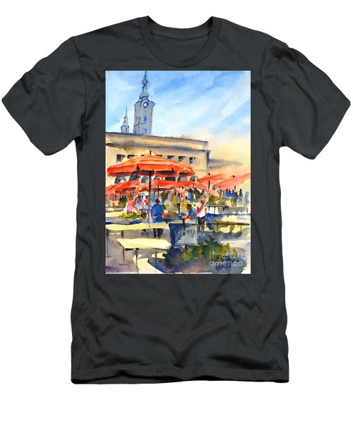 Dolce Market, Zagreb - 2 Men's T-Shirt (Athletic Fit)