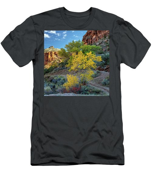 Men's T-Shirt (Athletic Fit) featuring the photograph Dominguez Gold by Angela Moyer