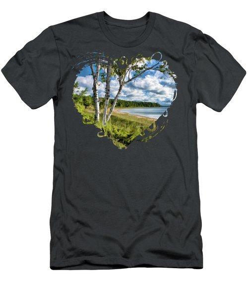 Door County Europe Bay Birch Men's T-Shirt (Athletic Fit)
