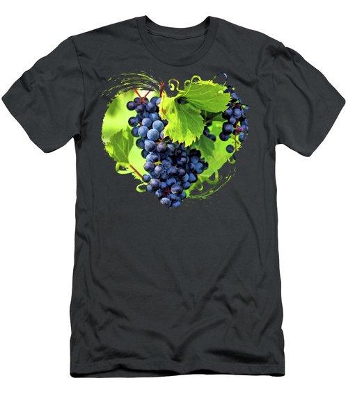 Door County Grape Cluster Men's T-Shirt (Athletic Fit)