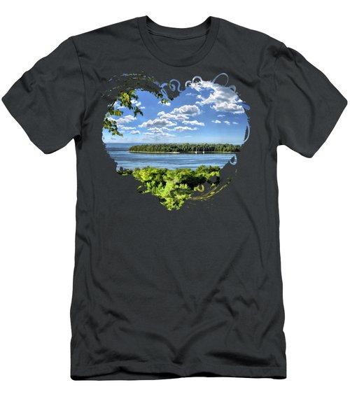 Door County Horseshoe Island Men's T-Shirt (Athletic Fit)