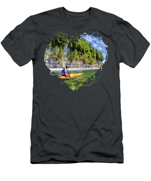 Door County Kayaking Around Rock Island State Park Men's T-Shirt (Athletic Fit)