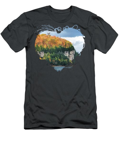 Door County Peninsula State Park Bluff Panorama Men's T-Shirt (Athletic Fit)