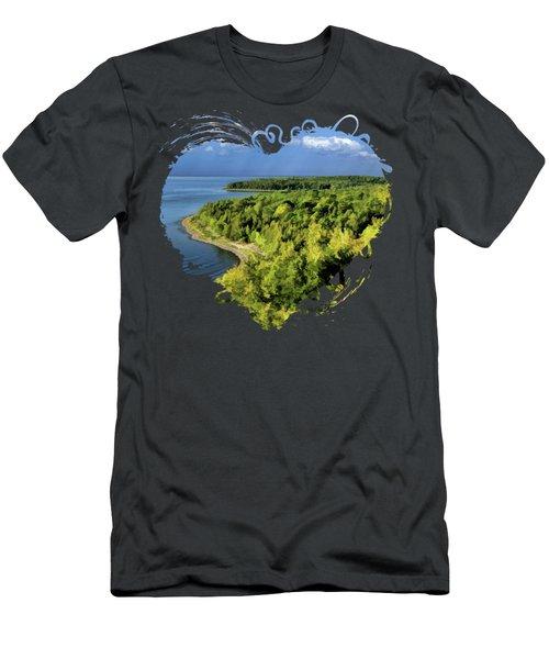 Door County Peninsula State Park Svens Bluff Overlook Men's T-Shirt (Athletic Fit)