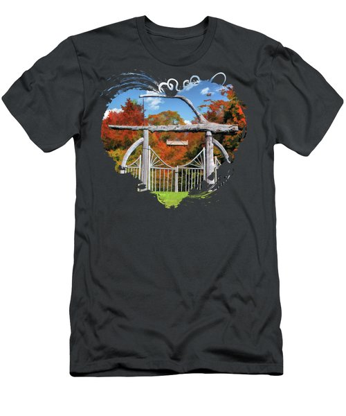Door County Rock Island Japanese Garden Gate Men's T-Shirt (Athletic Fit)