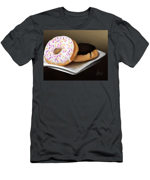 Men's T-Shirt (Athletic Fit) featuring the painting Doughnut Life by Fe Jones