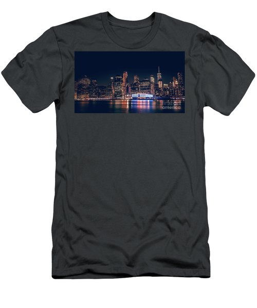 Downtown At Night Men's T-Shirt (Athletic Fit)