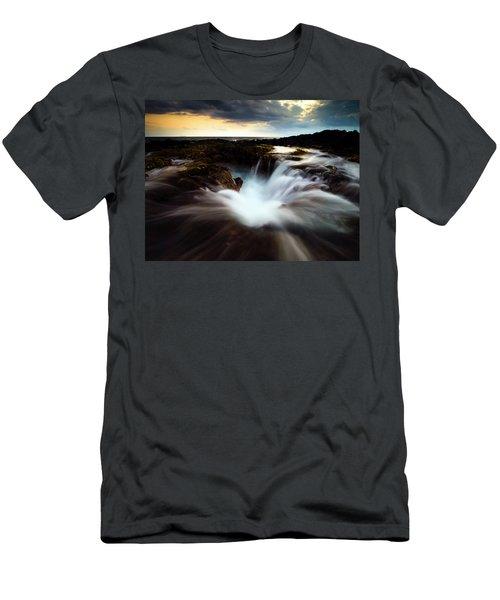 Dramatic Blow Hole Men's T-Shirt (Athletic Fit)