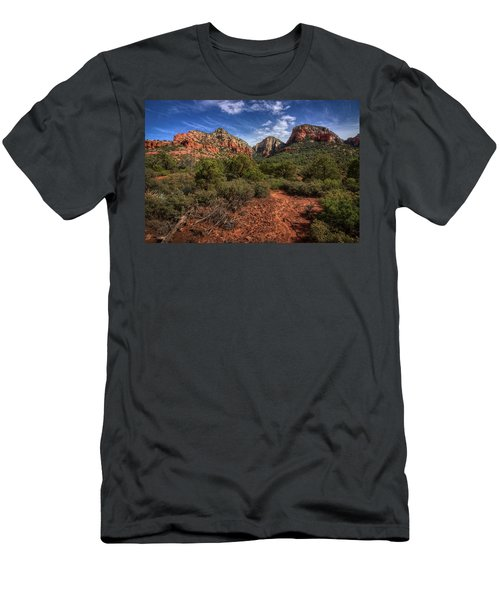 Dramatic Cloudscape Over Capitol Butte Men's T-Shirt (Athletic Fit)