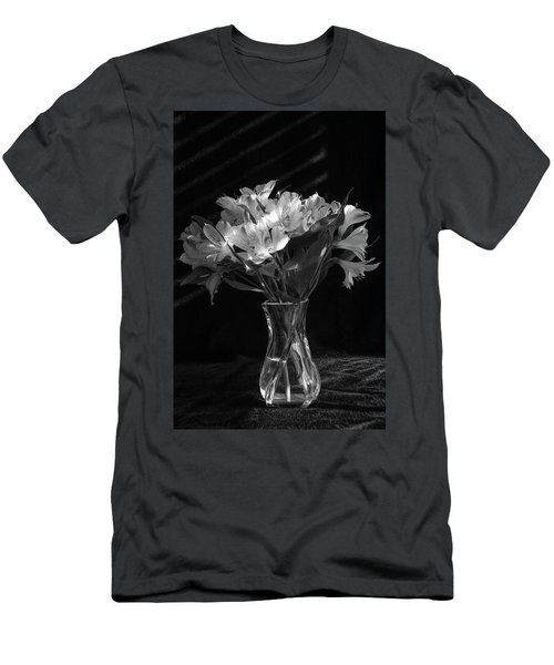 Dramatic Flowers-bw Men's T-Shirt (Athletic Fit)