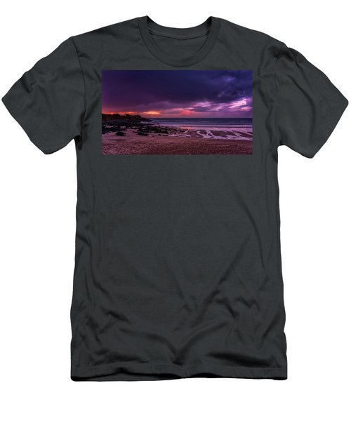 Dramatic Sky At Porthmeor Men's T-Shirt (Athletic Fit)