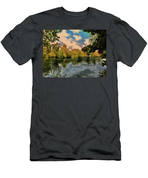 Men's T-Shirt (Athletic Fit) featuring the photograph Drawn To Water by Leigh Kemp
