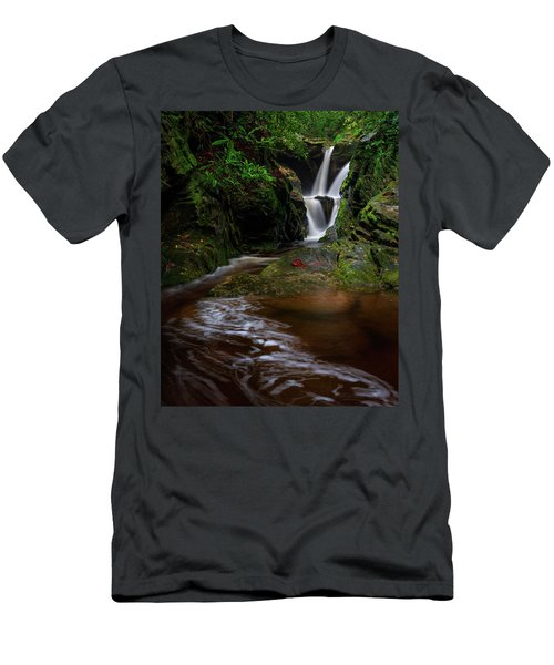 Duggers Creek Falls - Blue Ridge Parkway - North Carolina Men's T-Shirt (Athletic Fit)