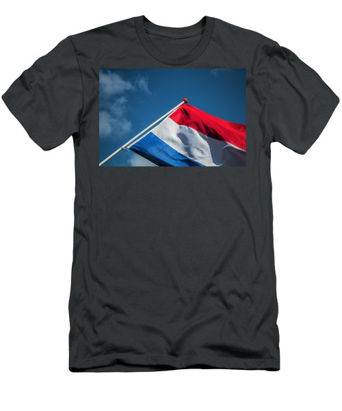 Men's T-Shirt (Athletic Fit) featuring the photograph Dutch Flag by Anjo Ten Kate