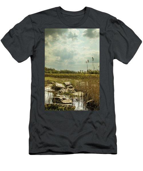 Men's T-Shirt (Athletic Fit) featuring the photograph Dutch Landscape. by Anjo Ten Kate