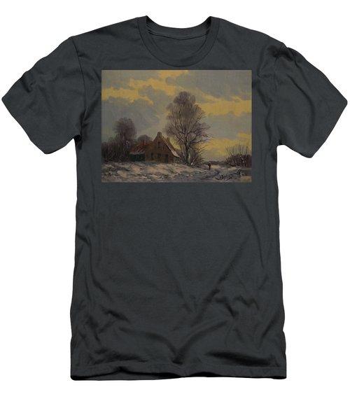 Dutch Snow Landscape Men's T-Shirt (Athletic Fit)