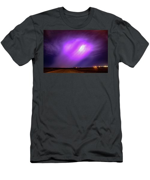Men's T-Shirt (Athletic Fit) featuring the photograph Dying Late Night Supercell 016 by NebraskaSC