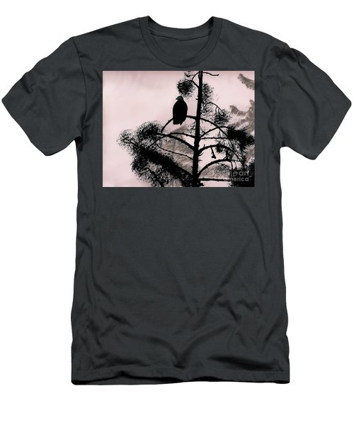 Eagle In Pink Sky Men's T-Shirt (Athletic Fit)