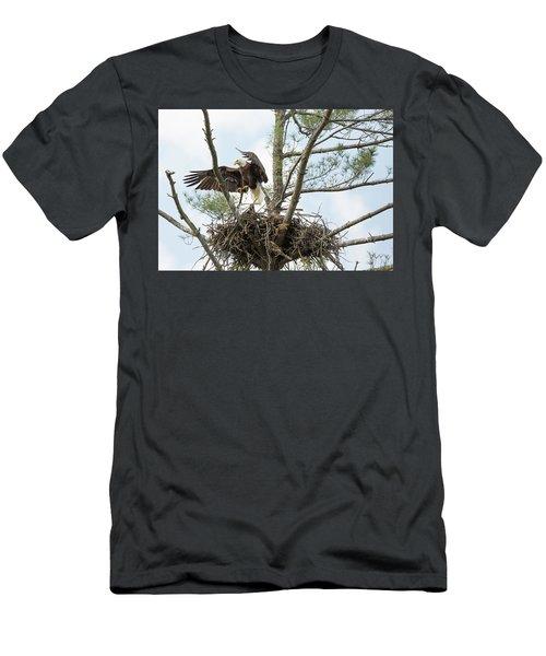 Eagle Landing Men's T-Shirt (Athletic Fit)