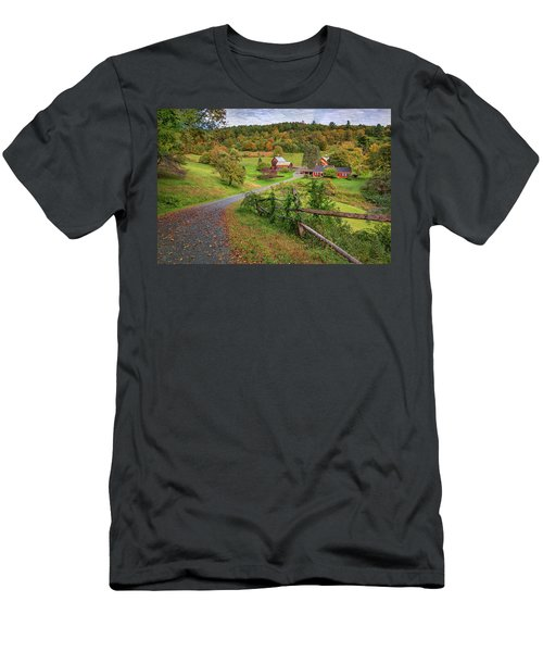 Early Fall At Sleepy Hollow Farm Men's T-Shirt (Athletic Fit)