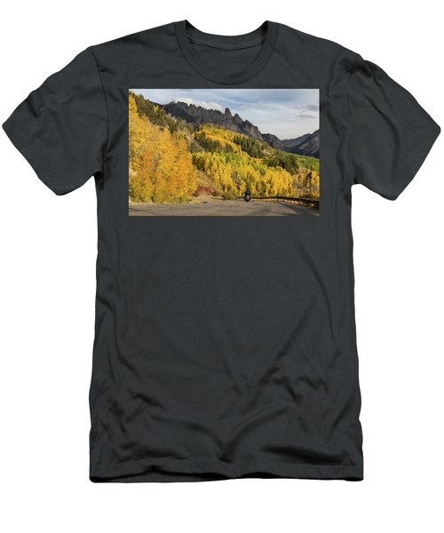 Men's T-Shirt (Athletic Fit) featuring the photograph Easy Autumn Rider by James BO Insogna