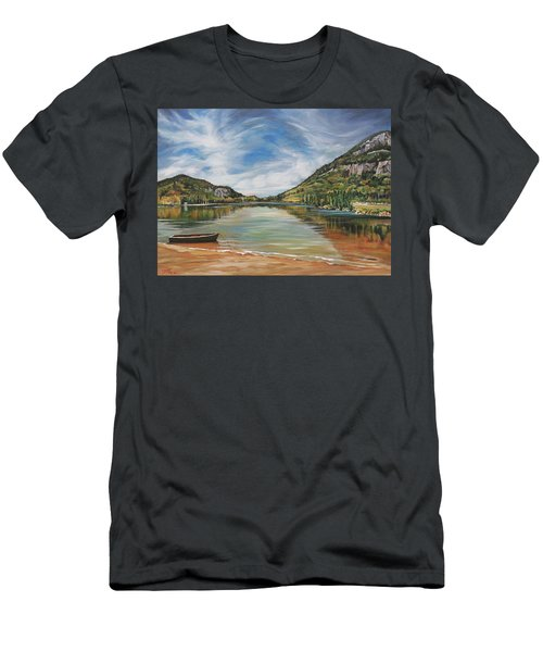 Echo Lake In Franconia Notch New Hampshire Men's T-Shirt (Athletic Fit)