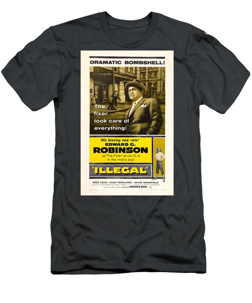 Edward G. Robinson In 1955 Film Illegal Men's T-Shirt (Athletic Fit)