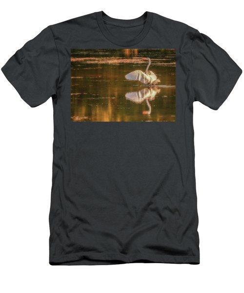 Egret Reflections 2 Men's T-Shirt (Athletic Fit)