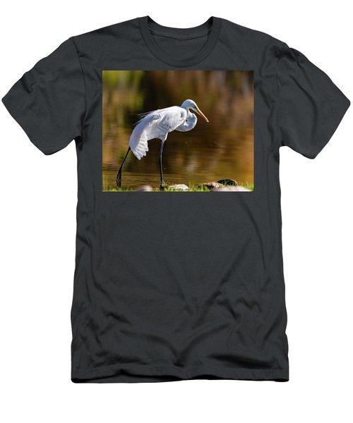 Egret Yoga Men's T-Shirt (Athletic Fit)