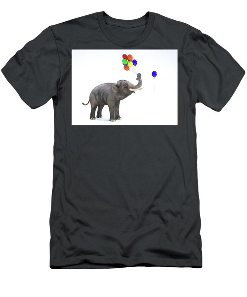Elephant With Balloons Men's T-Shirt (Athletic Fit)