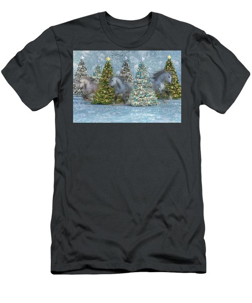 Equine Holiday Spirits Men's T-Shirt (Athletic Fit)