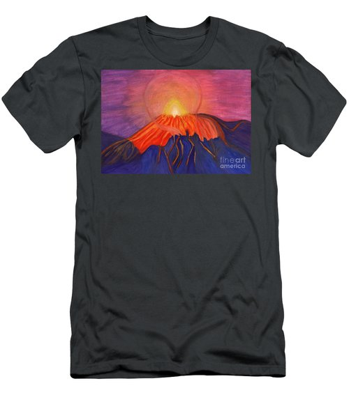 Glow Fading Volcano Men's T-Shirt (Athletic Fit)